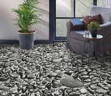 3D Black Stone SKE092 Floor Wall Paper Wall Print Decal Wall Deco Bea