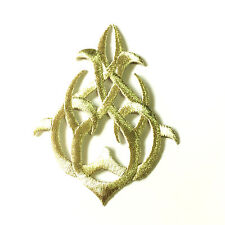 Silver Arrow Celtic Knots Gothic Symbols Lace Embroidered Applique Iron On Patch