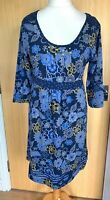 Mantaray Ladies Dress 16 Navy Floral Jersey Casual Pull On Everyday