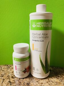 HERBALIFE HERBAL ALOE  + HERBAL TEA CONCENTRATE 1.8 OZ FAST SHIPPING ALL FLAVORS