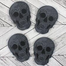 Conjunto de 4 Posavasos De Cráneo Gótico curiosidades Casa Ware Regalo
