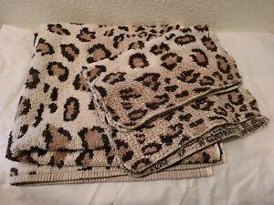 VTG SET 3 Ralph Lauren Aragon Leopard 1 Bath 2 Washcloths U.S.A.