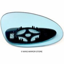 Right side for Porsche 928, 968 1991-1995 heated Blue wing door mirror glass