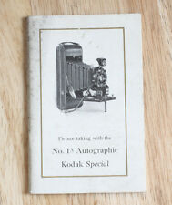 KODAK NO. 1A AUTOGRAPHIC SPECIAL INSTRUCTION BOOK, PAGE MISSING/cks/200531