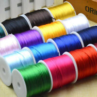 55m 1.5mm DIY Soft Nylon Satin Rattail Silk Macrame Cord Beading Jewellery Cord