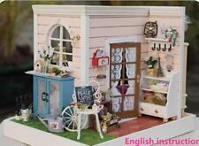 Wooden Miniature dolls house Doll house DIY Kit - LED Room Corner/furniture