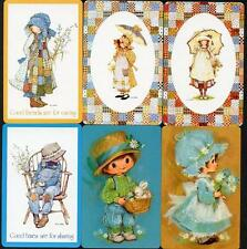 HOLLY HOBBIE THEME SWAP CARDS WITH OLD FASHIONED CHILDREN EXCELLENT CONDITION