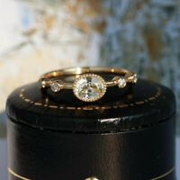 Simple Oval Cut White Sapphire Wedding Ring 14k Yellow Gold Womens Jewelry Gifts