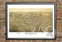 Old Map of Carbondale, PA from 1897 - Vintage Pennsylvania Art, Historic Decor