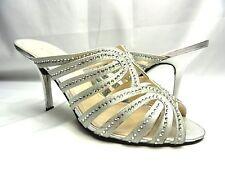 Caparros Women's Rosemary Silver Metallic Dress Heel Sandals Size 9