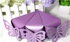 50X Butterfly Favor Gift Candy Boxes Cake Style Wedding Party Baby Shower B234S