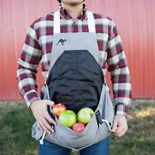 The ROO Garden Apron, Charcoal Grey, Hands Free Harvesting / Gardening One Size