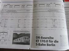 Eisenbahn N Risszeichnungen ET 170.0 der DR Berliner S-bahn 8/02