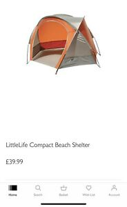 LittleLife Compact Beach Shelter Used Once Coll SW13