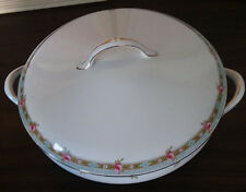 Vintage Covered Fine China Serving Bowl by John Maddox & Sons Royal Vitreous