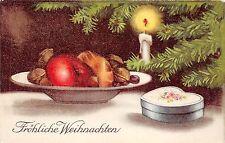 BG14913 weihnachten christmas festive table  candle fir branch  germany