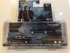 Supernatural 1967 Chevrolet Impala 2015 Chevrolet Silverado and Flatbed Trailer