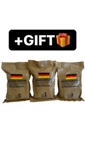 NEW BUNDESWEHR BW GERMAN MILITARY MRE+GIFT, RATION, ARMY, EMERGENCY, SURVIVAL