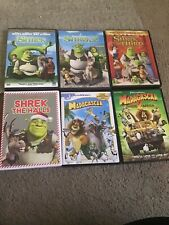 Lot Of 6 Dreamworks Kids Dvd Movies (Shrek 1-3 & Madagascar 1-2)