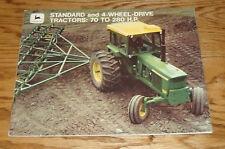 1970 John Deere Standard & 4-Wheel Drive 70 to 280 HP Tractor Sales Brochure 70