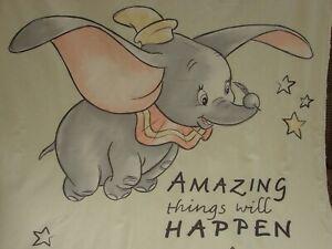 Dumbo Cotton Top Lemon Minkee Back Cot Blanket Handmade