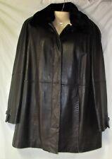Women's Black Leather Jacket Size Medium Removeable Lining