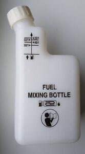 Mischflasche zur Herstellung von 2-Takt-Gemischen für Kettensägen u.s.w.