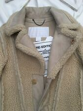 Maison Martin Margiela H&M Reversed Coat sz Small BNWT Tan Khaki Cream Shearling