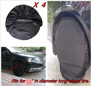 """Set of 4 RV Wheel Tire Covers Auto Truck Car Camper Trailer to 32"""" Diameter Tyre"""