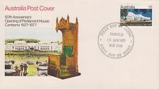 (K60-7) 1977 AU FDC 18c 50th anniversary of opening Parliament (G)
