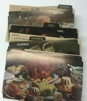 VINTAGE 1977  PET BRAND FAMILY RECIPES CARDS W DIVIDERS FOUR SEASONS + BLANK