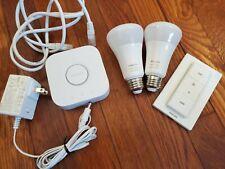 Philips Hue A19 E26 Color 2 bulb Starter Kit DIMMER switch
