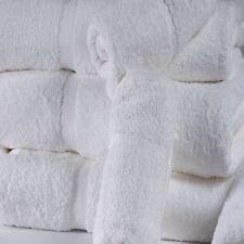 12 WHITE COTTON HOTEL BATH TOWELS LARGE 27X54 *PREMIUM* DOBBBY BORDER 17# DOZEN