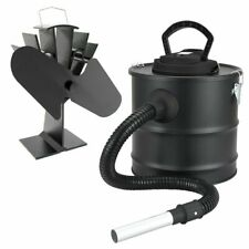 Valiant Log Burner Stove Fan and Fireplace Ash Vac Cleaner Twin Pack