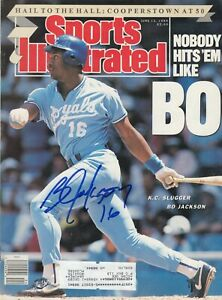 Bo Jackson Royals Signed Autograph 1989 Mint Sports Illustrated With Proof