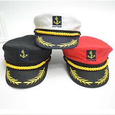 Unisex Men Yacht Boat Ship Sailor Captain Navy Marine Admiral Skipper Cap Hat