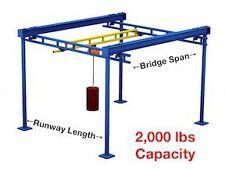 Gorbel Free Standing Workstation Bridge Crane 2000 Lb Capacity 15 Ft Span 43 Fo