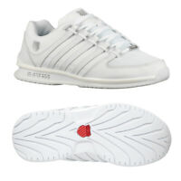 K-Swiss Mens Rinzler SP Classic Leather Luxury Lace Up White Trainers