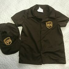 Halloween Kids Costume UPS Uniform Cosplay Dress Up for Boys or Girls Size 3/ 4