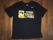 Pittsburgh Pirates Nike T Shirt 1970s Logo Mens XL Athletic Cut Preowned MLB