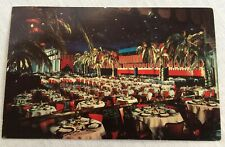 1965 Cocoanut Grove Ambassador Hotel Postcard Dining Room Palm Trees
