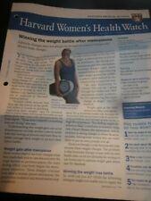 Harvard Medical School Harvard Women's Health Watch August 2019 Newsletter New