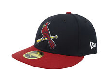 50129591e7c New Era 59Fifty Hat Mens MLB Low Profile St. Louis Cardinals Blue Red 5950  Cap