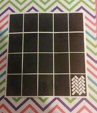 Schablonen in Schwarz für Nail-Art Maniküre
