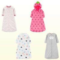NWT Carter's Sleepsack Baby Girls Microfleece Sleepbag Sleepwear 1 Piece