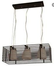 hampton bay 3 light aranga pendant black cage finish island bar hanging