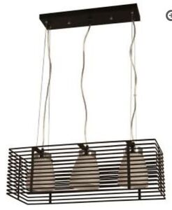 hampton bay 3 light aranga pendant black cage finish island bar hanging