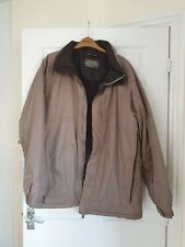 Man's Light Brown REGATTA WATERPROOF Hooded Jacket/COAT SIZE L