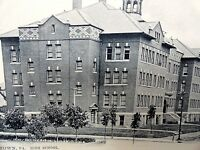 Johnstown PA - High School - Johnstown Book Store - Vintage postcard