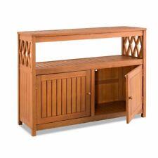 Tropical Hard Wood Sideboard Patio Buffet Storage Cabinet Bar Outdoor Living